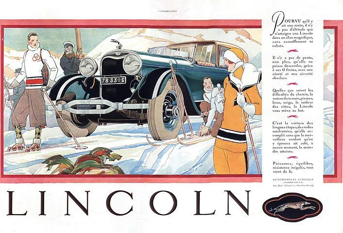 Lincoln (cars) 1928, illustrator: René Vincent
