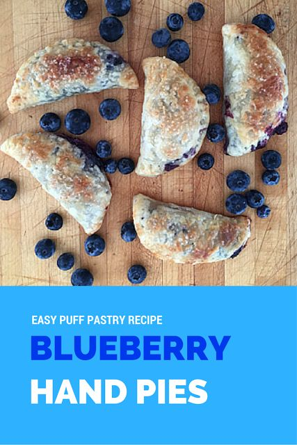 MOMMY BLOG EXPERT: Easy Wild Blueberry Hand Pie Recipe Rustic Natural Made With Puff Pastry