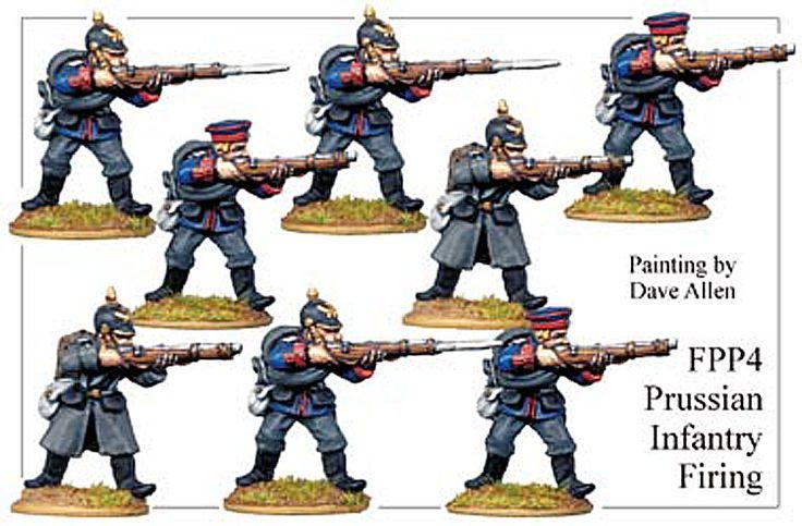 Franco Prussian Prussian - Prussian Infantry Firing - FPP004