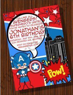 invitaciones de cumpleaños del capitan america - Buscar con Google