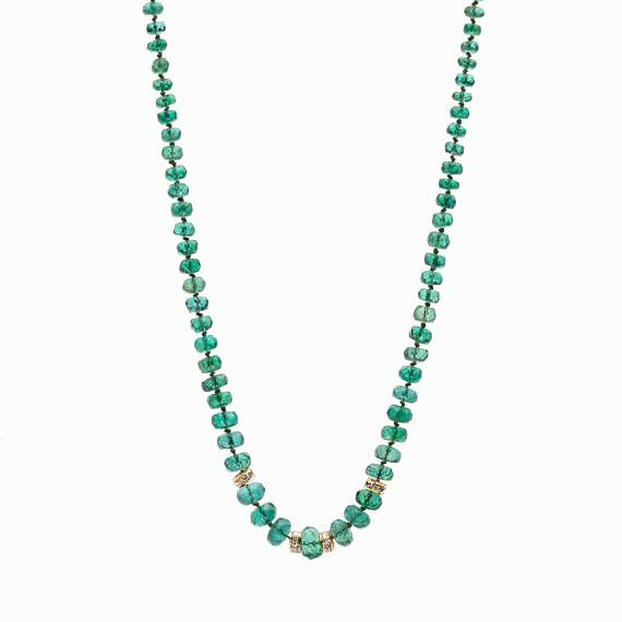 SALE 20 OFF ZAMBIAN Emerald necklace finest quality emeralds