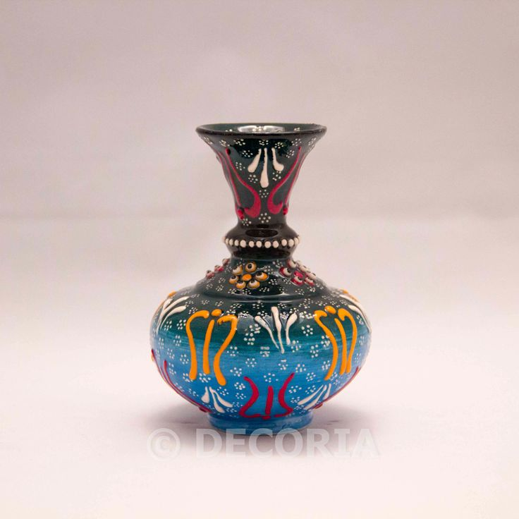 Small Vase - Green & Blue - DECORIA HOME & GIFT