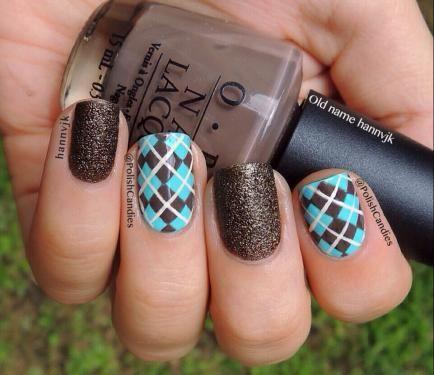 Nail Art How To, Nail Designs, Fall Nails, Argyle Nails | NailIt! Magazine