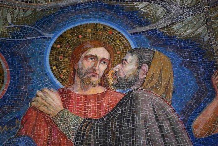 Поцелуй Иуды / живопись, художники, христианство, иисус христос, поцелуй иуды, евангелие, иисус и иуда, страсти христовы