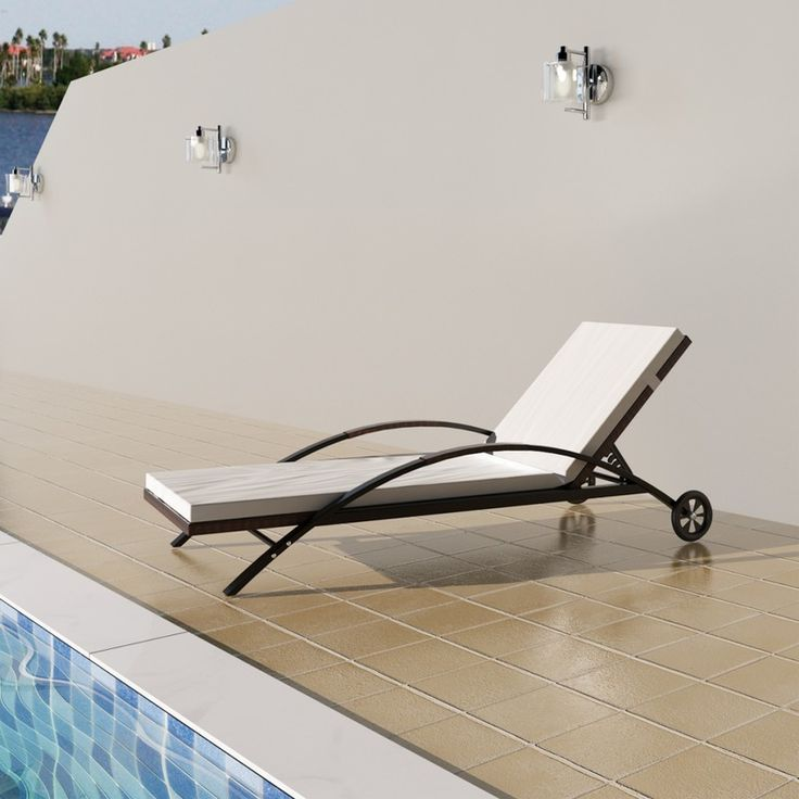 Rattan Sunbed Backrest Adjustable Brown - Garden and Outdoor