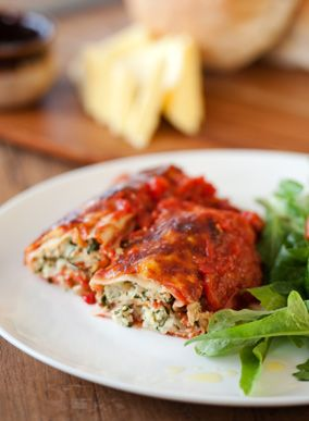 Ricotta and Spinach Canneloni - Julie Goodwin recipe