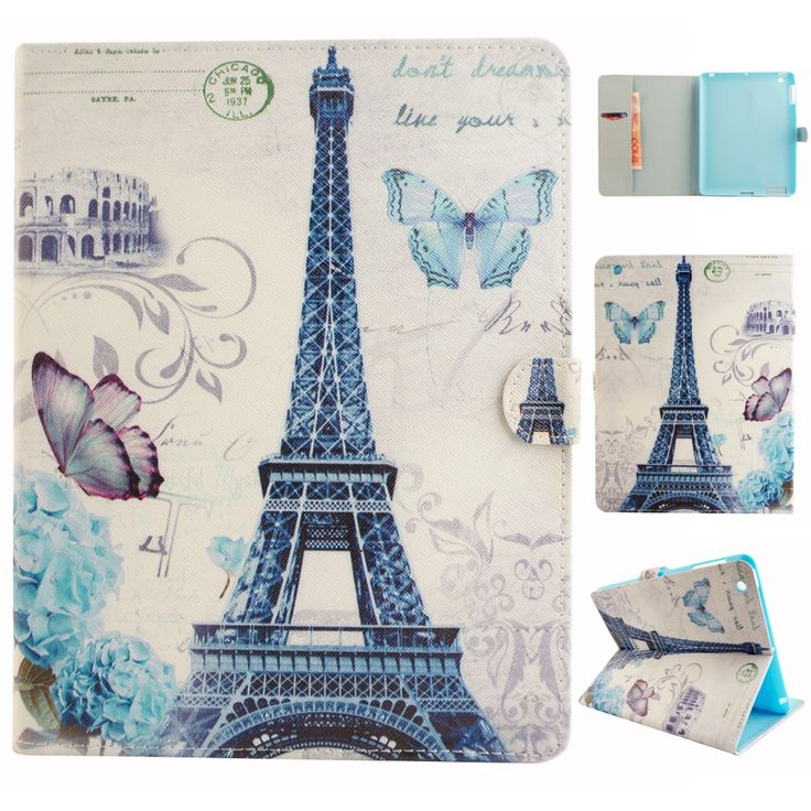 Tablet Case for iPad 2 3 4 Cute Kids PU Leather Wallet Case Flip Cover Soft TPU Back Shell inside for Coque Apple iPad 4 3 2