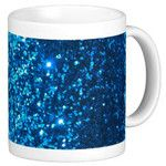 Dark Blue Glittler galaxy Print Coffee Mugs