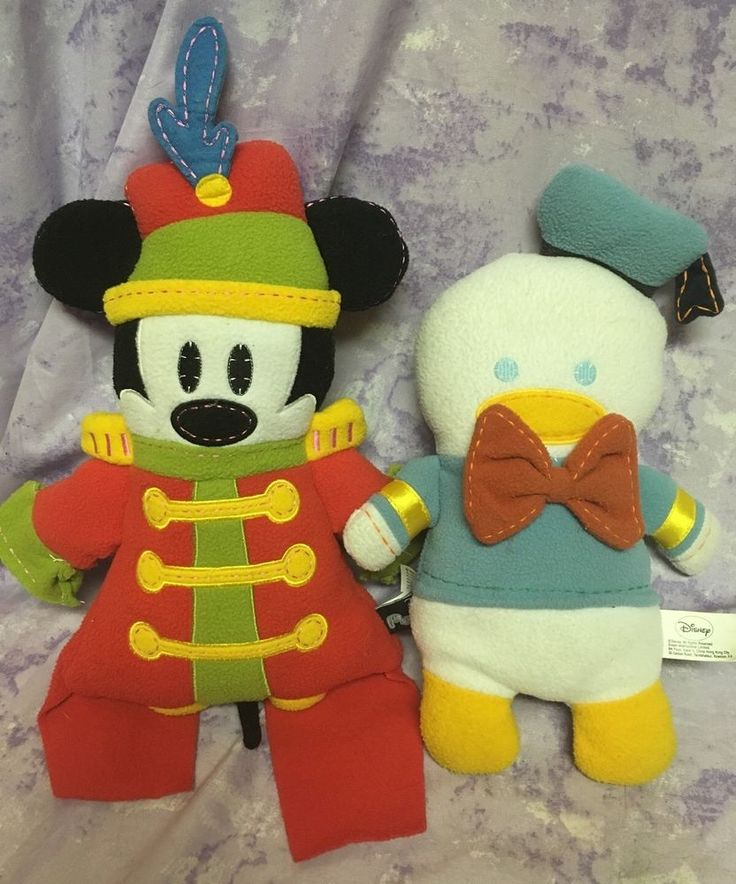 """Mickey Mouse Pook A Looz Donald Duck Band Leader Plush 12"""" Disney"""