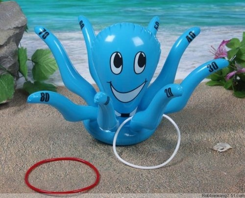 41CM Octopus Throw Target Inflatable Toy 2.99 Kid party