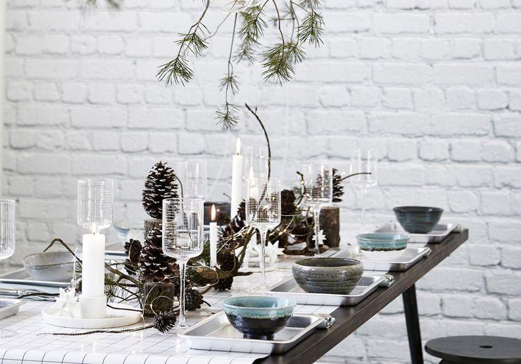 Une décoration de table de Noël nordique