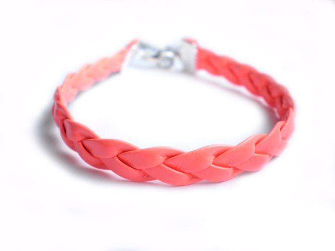 Bransoletka neonowa w kolorze łososiowym w estoresa na DaWanda.com