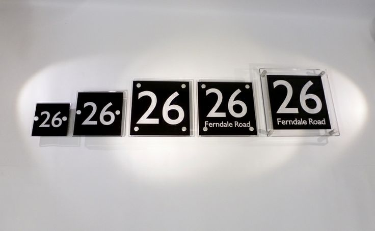 @De-signage Contemporary Acrylic Signage - Architectural House Signs & High Quality Perspex Products we manufacture Small Door Numbers to Large 'Huge' Numbers or to Whatever size you require   Every Size of Sign for A #Property Developers Needs.  www.de-signage.com