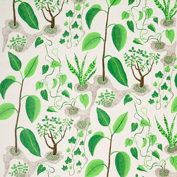 Mini Quarter of any Josef Frank Designer Linen Fabric 15cm by fabeco, 15.00 CHF