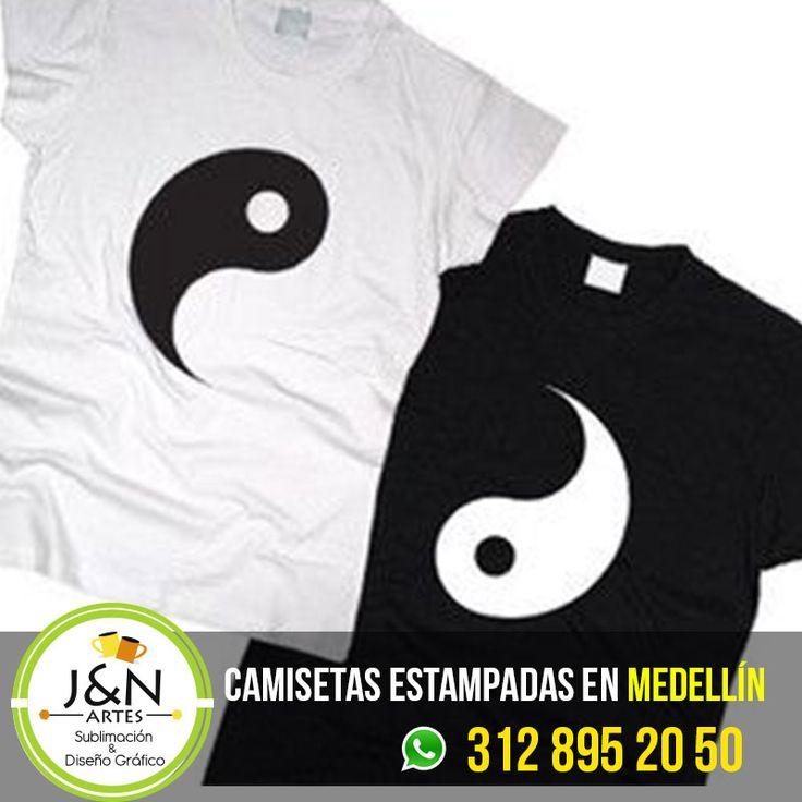 Camisetas Ying Yang Para Parejas y Novios / Estampadas en Medellin