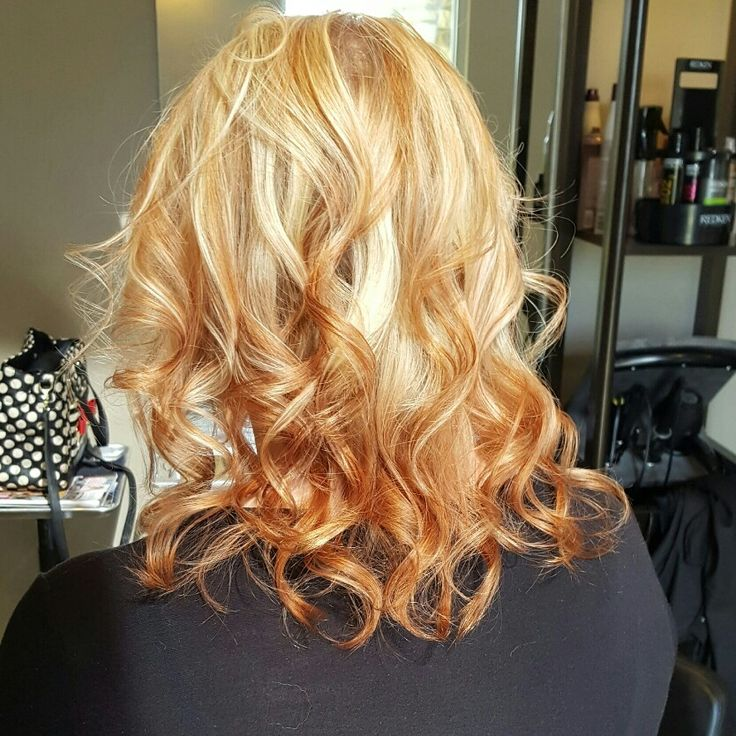 8 best copper highlights in blonde hair images on pinterest reverse ombresombre with blonde highlights and copper red lowlights pmusecretfo Choice Image
