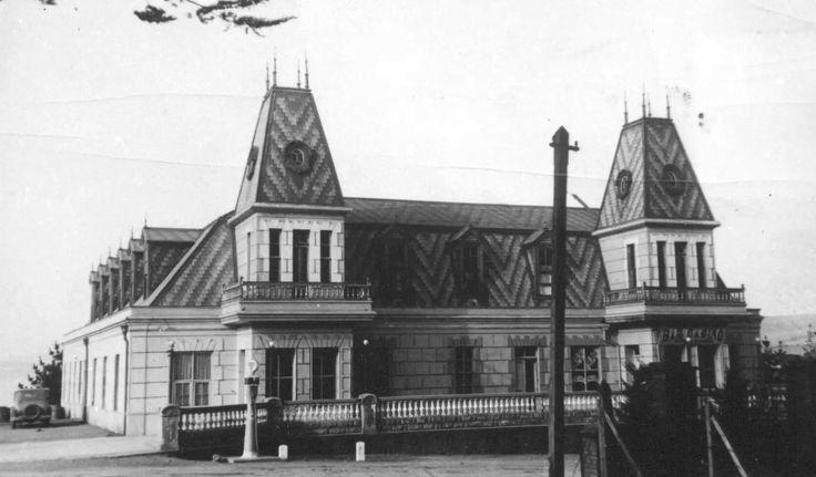 Hotel Ross y primera bomba de bencina, Pichilemu 1920