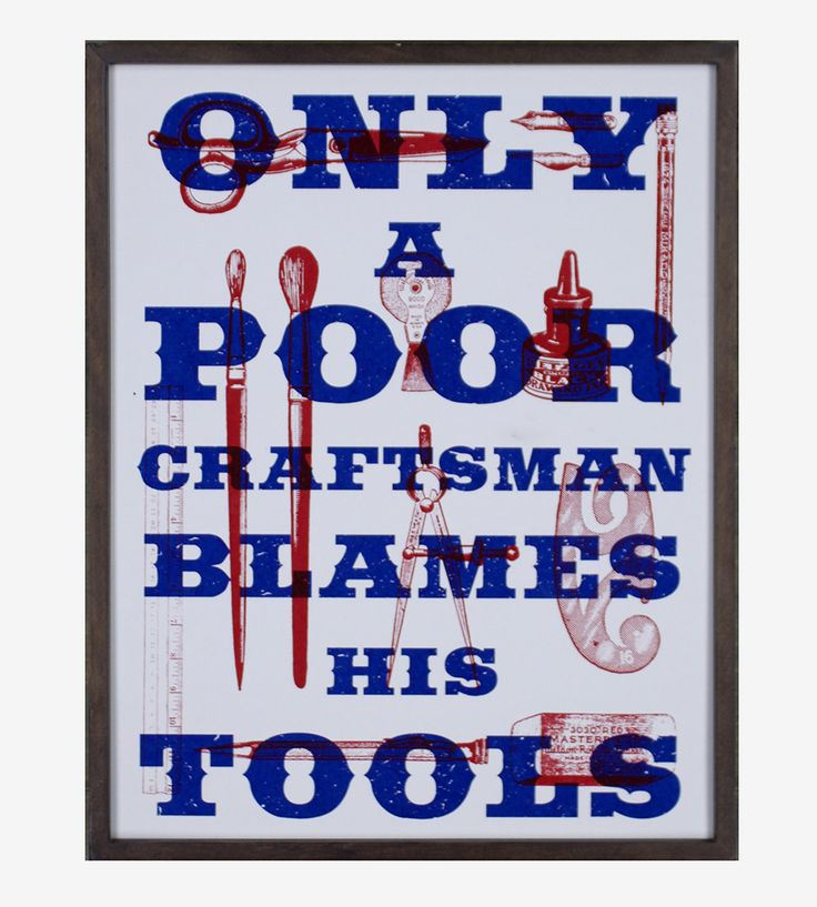 Craftsman & His Tools Art Print by Arsenal Handicraft on Scoutmob Shoppe