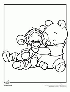 Pooh and Tigger- Disney Babies Coloring Pages website