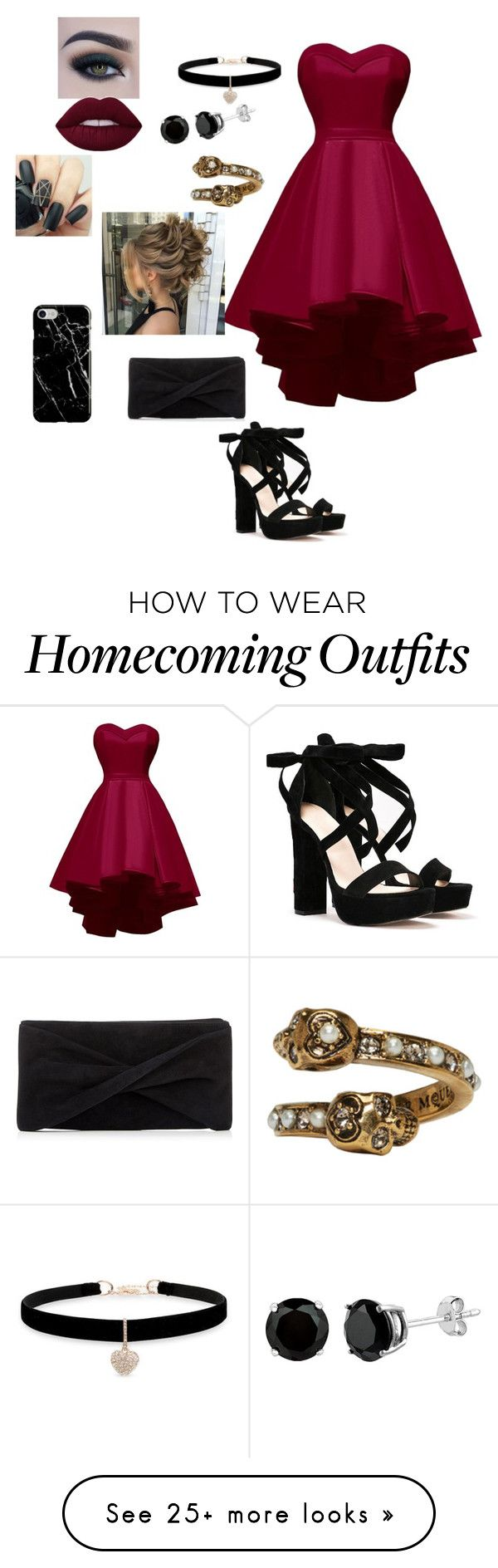 """Untitled #1027"" by crystalrose-014 on Polyvore featuring Nasty Gal, Reiss, Betsey Johnson, Alexander McQueen, Too Faced Cosmetics and Recover"