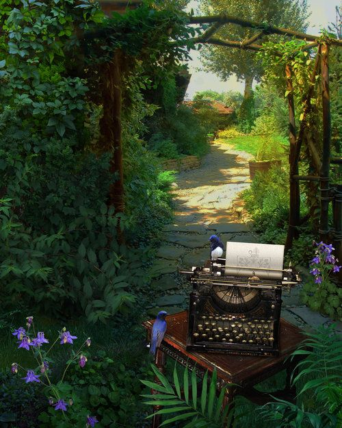 To write where the very air is inspiring, embued with richness, bathed in inspiration