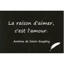 """Antoine de Saint-Exupéry (1900-1944) - Citation - """"La raison d'aimer c'est l'amour."""""""