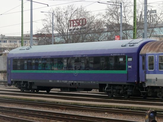 Romanian sleeper car at Budapest Keleti