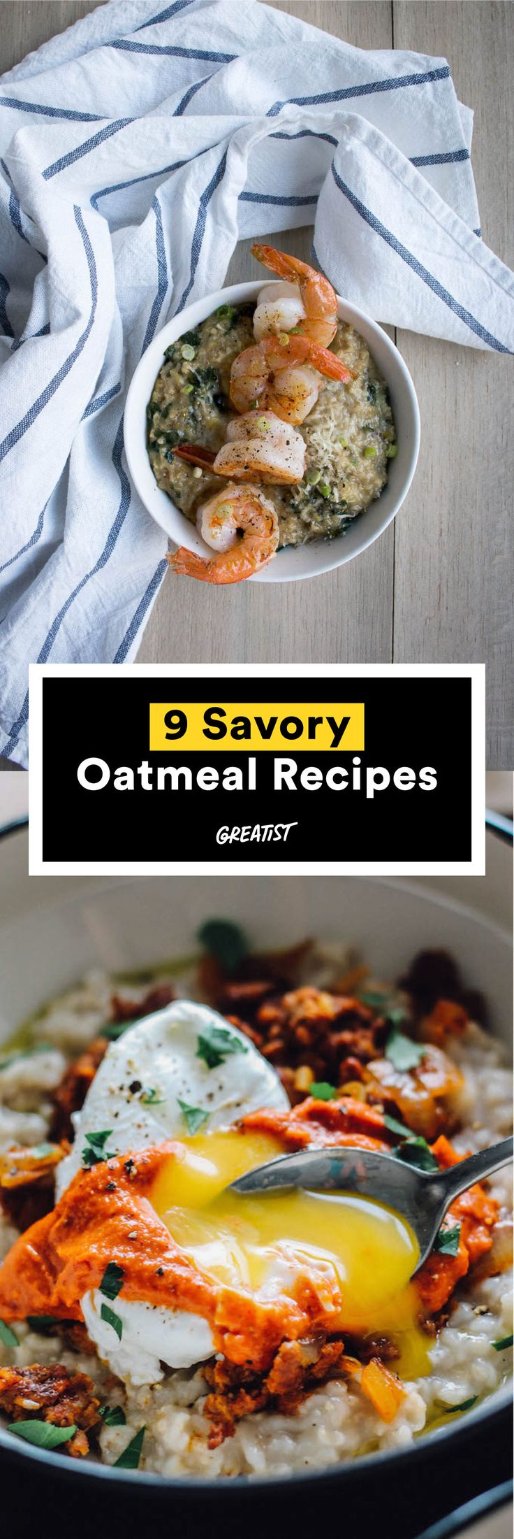 You can do so much better than brown sugar. #savory #oatmeal #recipe http://greatist.com/eat/oatmeal-recipes-that-are-savory-not-sweet