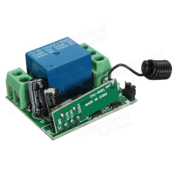 315MHz Comutador sem fio transmissor receptor de controle remoto receptor 10A Dc 12v Venda - Banggood.com