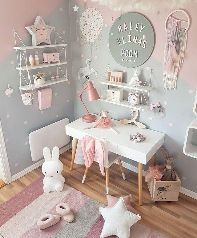#girlsroom #kidsroom #desk #bunnies