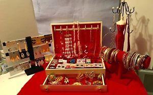 Vintage Jewelry LOT With A MELE Large Jewelry Box In Excellent CONDITION  | eBay