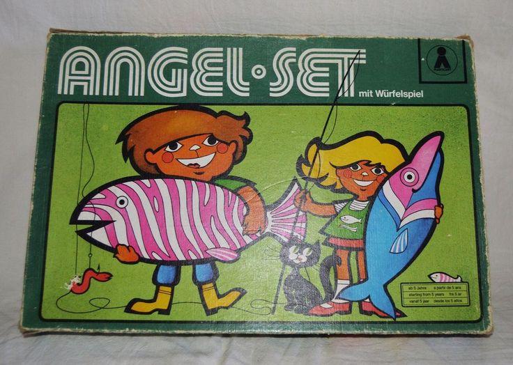 Vintage DDR Plasticart Angel Set mit würfelspiel Angling Game Family Game Rare | Toys & Hobbies, Games, Board & Traditional Games | eBay!