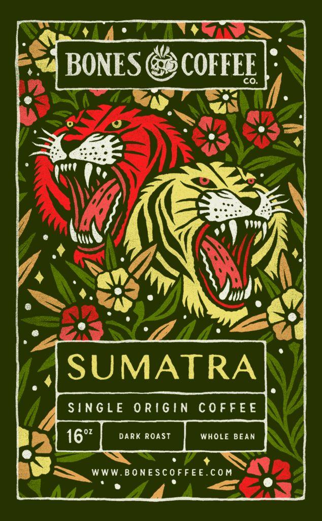 Sumatra Single-Origin Coffee by Bones Coffee Company - 16oz.