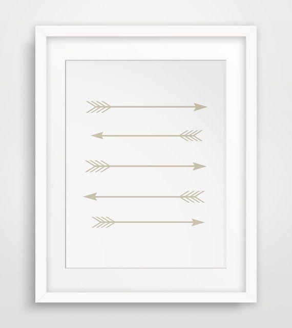 Beige Art Arrow Wall Prints Arrow Art Beige by MelindaWoodDesigns #arrowart