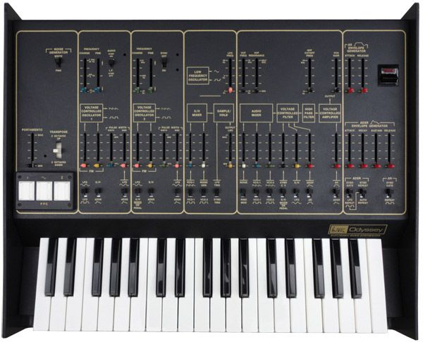 ARP Odyssey! This is the synth I am most proud of! It's a 1978 MkII duo-phonic ARP Odyssey whose sound is absolutely stunning. You'll hear it in my records and, hopefully, live.