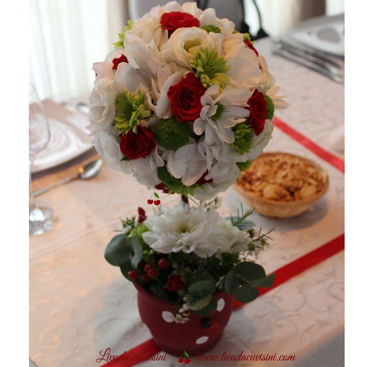 Pomisor din flori #madewithjoy #paulamoldovan #livadacuvisini #flowers #tree