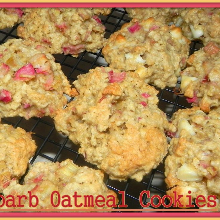 Rhubarb Oatmeal Cookies (I made these with less sugar and no white chocolate chips--oh they were yummy!)