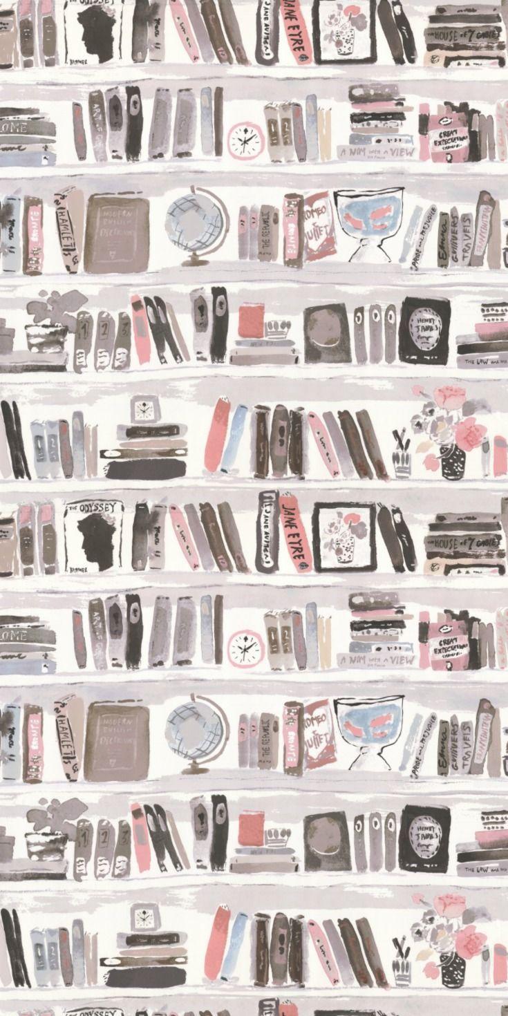 Eine Kunstbibliothek Wand, Bücherregal Tapete Des…