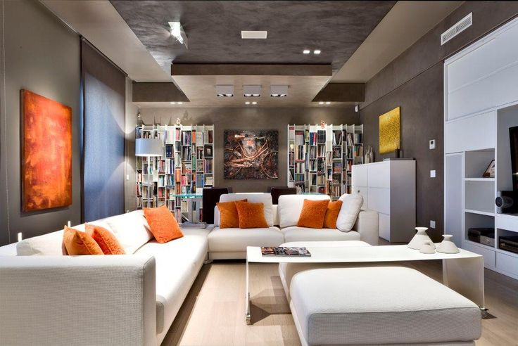 Beton w salonie / beton na ścianie / powłoka cementowo-polimerowa HD Surface / Kopp