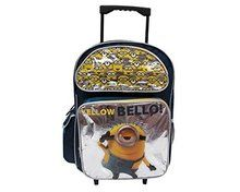 "Despicable Me Minions Large 16"""" Kids Rolling Backpack -""""Yellow Bello"""""