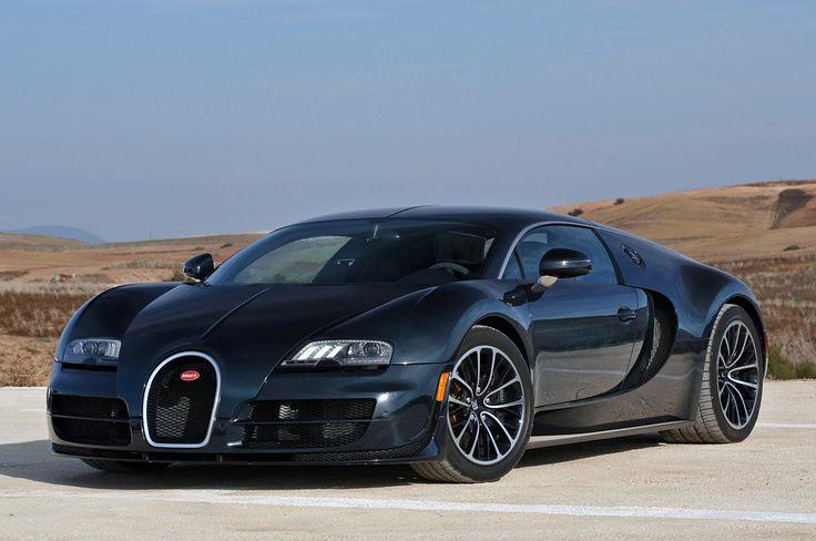 Fabulous Black Bugatti Super Sport Wallpaper HD