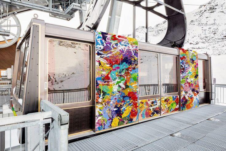 Le téléphérique de Courchevel décoré par JonOne