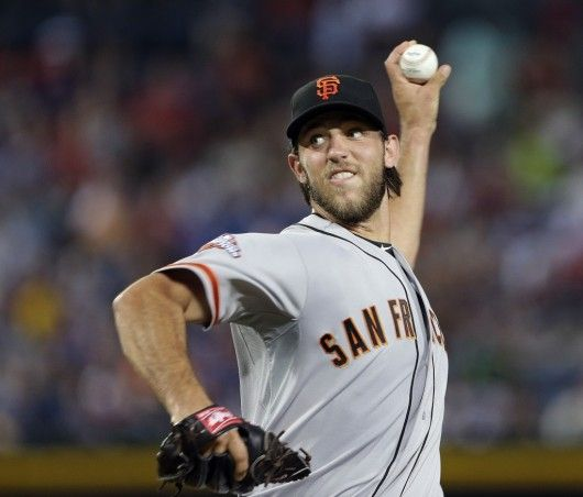 """23. Madison Bumgarner  -   Madison Kyle Bumgarner, commonly known by his nickname, """"MadBum"""", is an American professional baseball pitcher for the San Francisco Giants of Major League Baseball. He stands 6 feet 5 inches tall and weighs 250 pounds."""