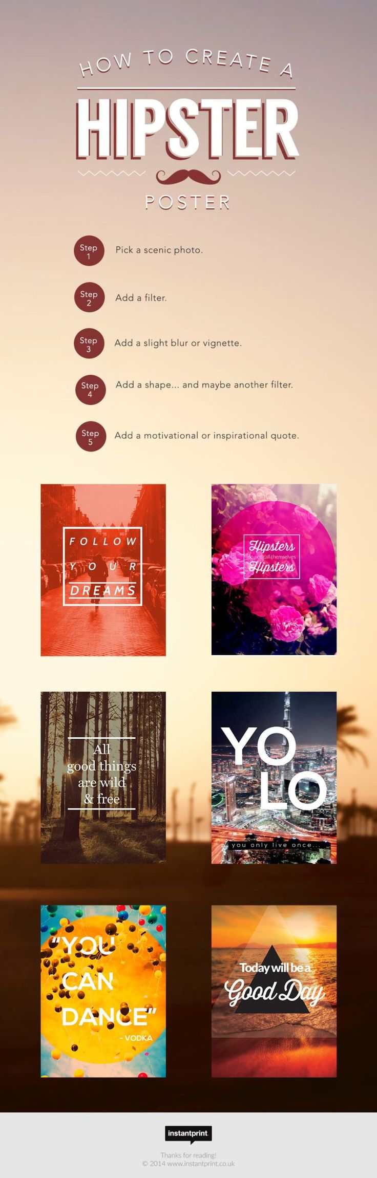 How to design a hipster style poster!
