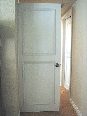 Old door makeover - update a flat door with diy panels ...