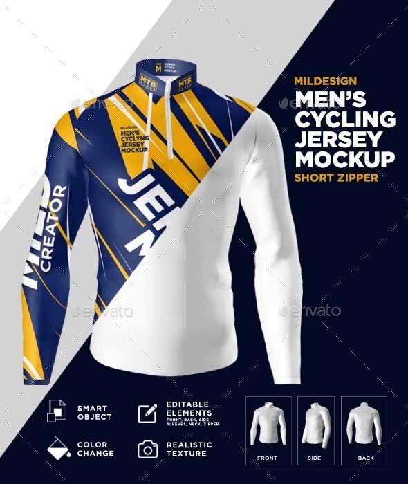 Download Mens Cycling Jersey Mockup Olahraga