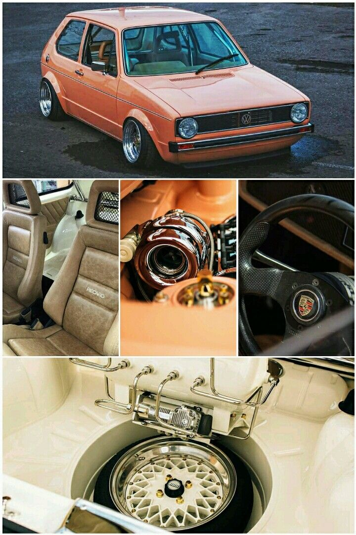 Volkswagen Golf Mk1 Rabbit GTi Turbo with Recaro seats