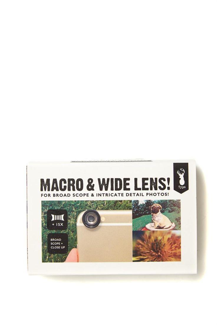 Macro & wide angle phone lens - Typo $13