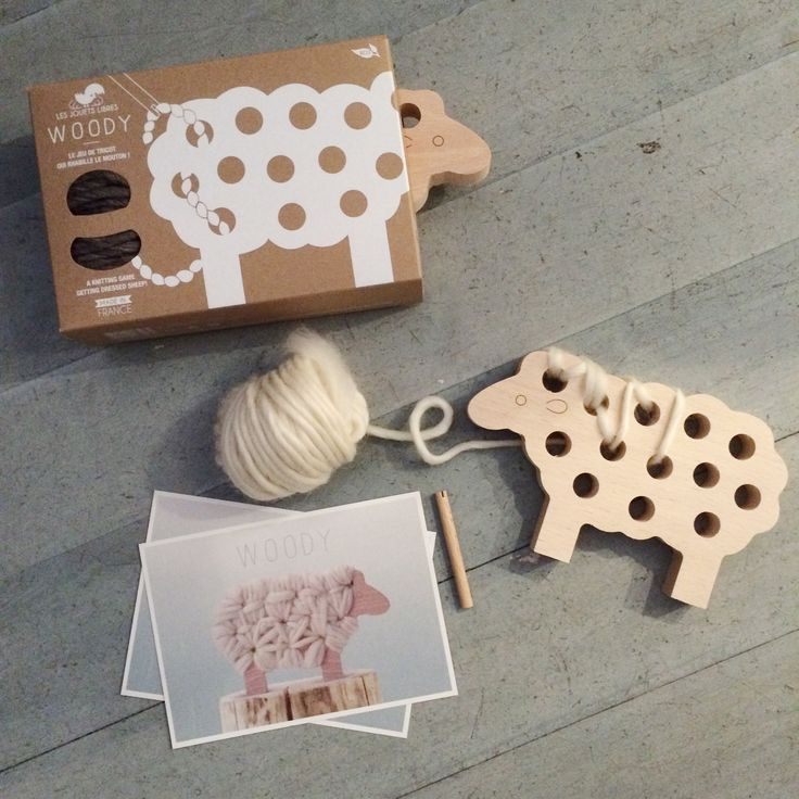 Woody sheep @rimini_shop knitting game wooden toy