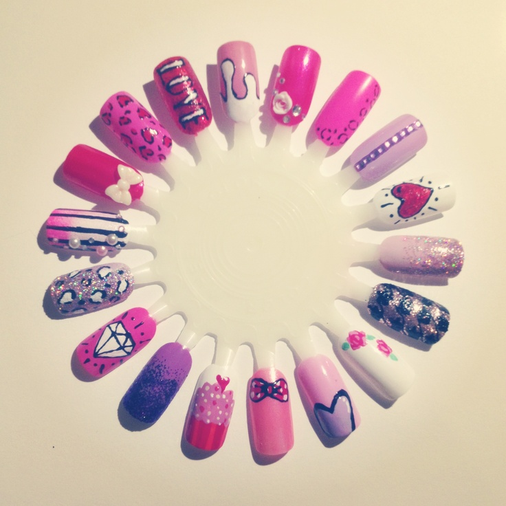valentines nail art valentines nail wheel nails desings 31578